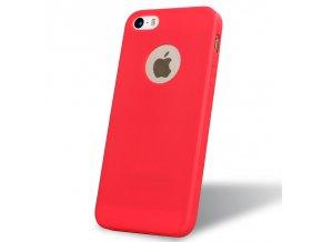 Silikónový kryt (obal) pre Iphone 5/5S/SE - red (červený)