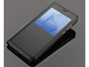 Flip Case (puzdro) pre Huawei Honor 8 - čierne (black)