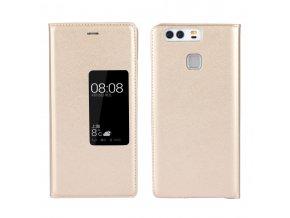 Flip Case (puzdro) pre Huawei Ascend P9+ (PLUS) - zlaté