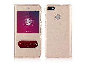 Flip Case (puzdro) pre Huawei Ascend P10 Lite - gold (zlaté)
