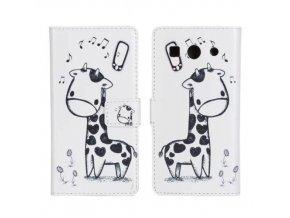 iPhone 6+/6S+ - Flip Case (puzdro) - žirafa