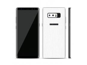 Dizajnová wrap fólia pre Samsung S8 - biela (vzor kôry stromu)