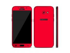 Dizajnová wrap fólia pre Samsung A3 2017 (A320F) - červená