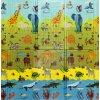Detská skladacia podložka ABC ANIMAL 200x140cm - hrubá, CASMATINO