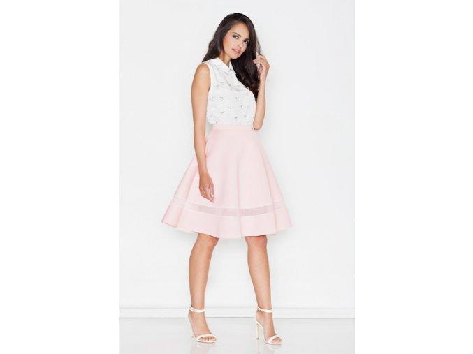 Áčková sukňa - ružová