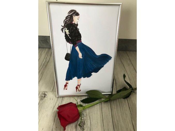 Blue skirt girl home decor