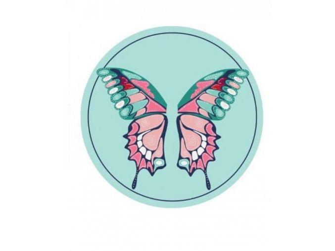 Plážová okrúhla deka Butterfly