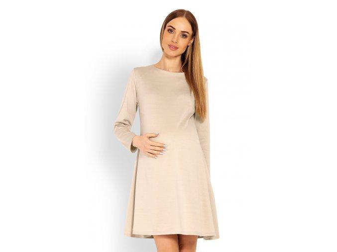 Tehotenské áčkové šaty