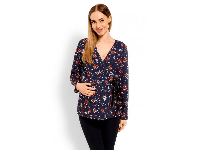 Tehotenské tričko so zaväzovaním 6