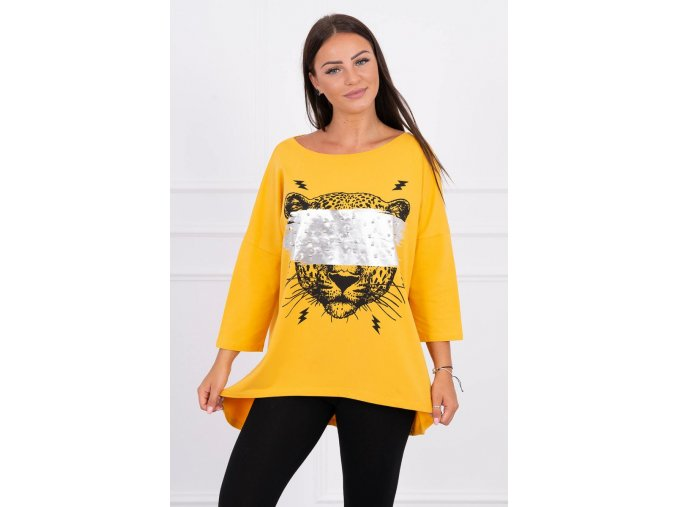 Oversize tričko s tigrom