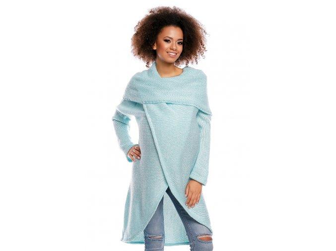 Tehotenský sveter s golierom 4