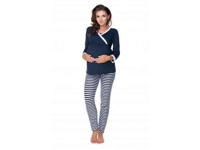 Pruhované tehotenské pyžamo (1)