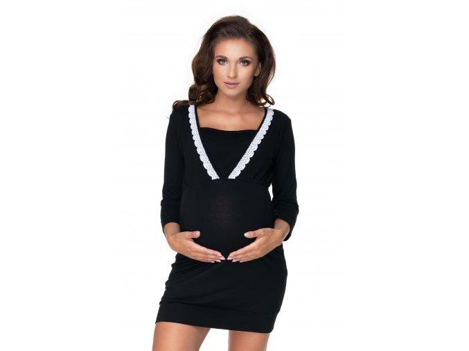 Tehotenská nočná košeľa s krajkou (9)
