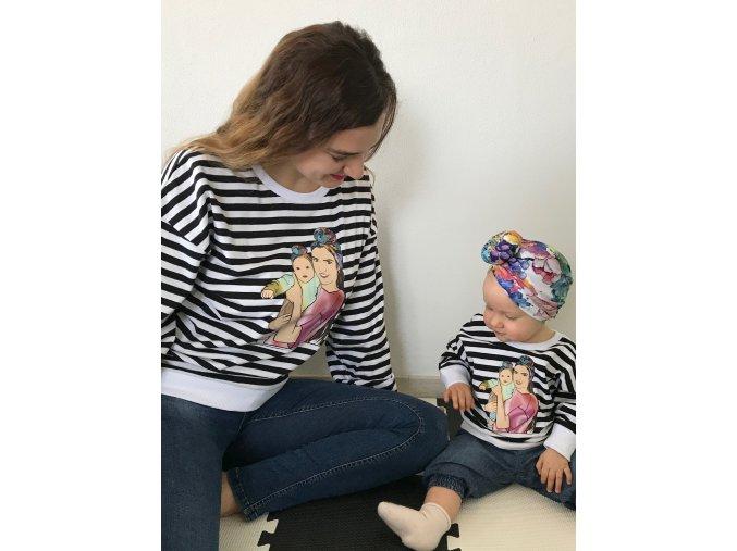 Personalizovaná mikina pre mamu a dieťa