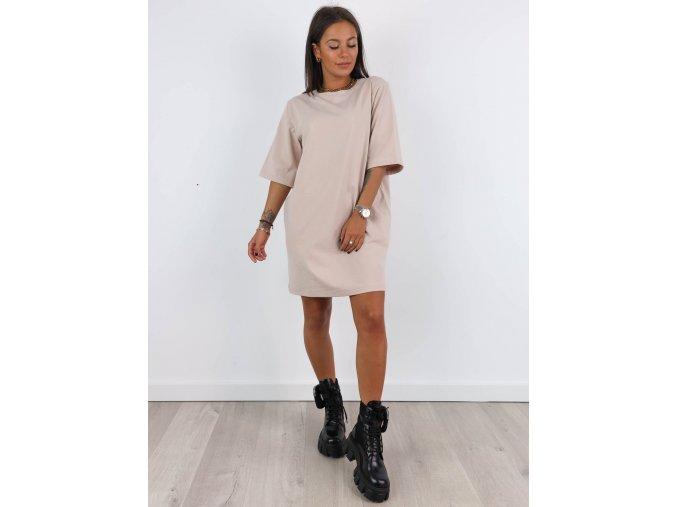 Basic oversize tričkové šaty 10