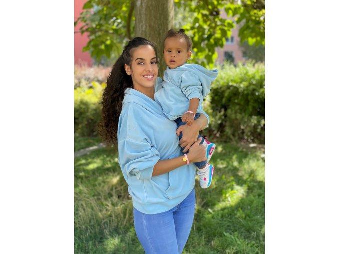 Mikina Baby Blue pre mamu a dieťa 7