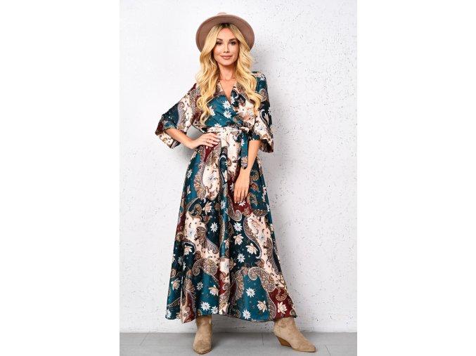 Saténové maxi šaty