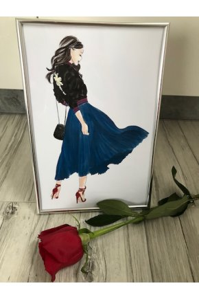 Blue skirt girl home decor VYPREDANÉ