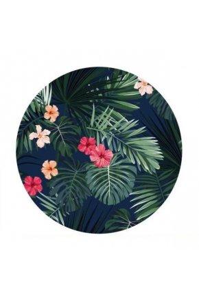 Plážová okrúhla deka Tropical flowers