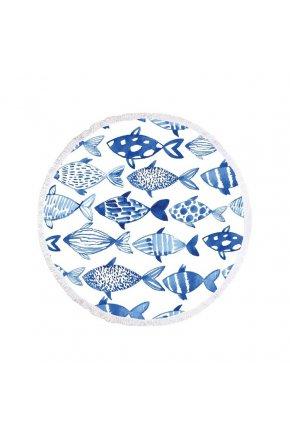 Plážová okrúhla deka Sea Fishes