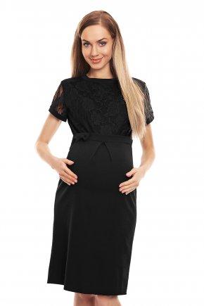 Tehotenské elegantné šaty s čipkou