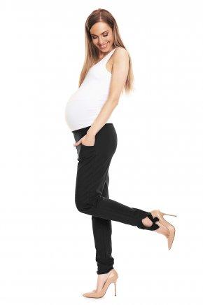 Tehotenské nohavice s mašľami na členkoch 3