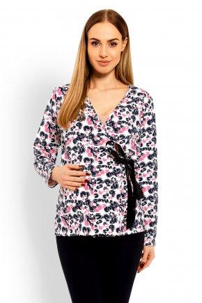 Tehotenské tričko so zaväzovaním