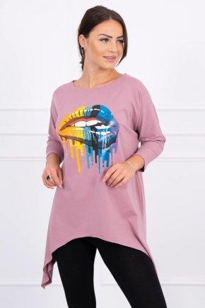 Oversize tričko s potlačou 44