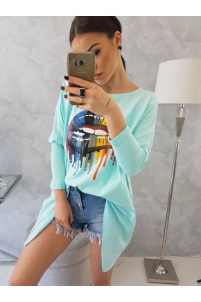 Y89 Oversize tričko s potlačou 1