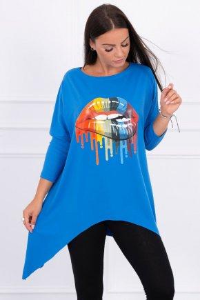 Oversize tričko s potlačou