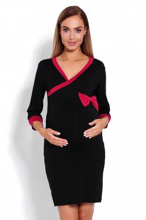 Tehotenská nočná košeľa s kontrastnými lemami