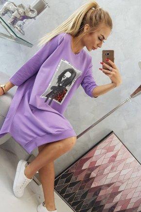 Y90 Oversize šaty s potlačou 2