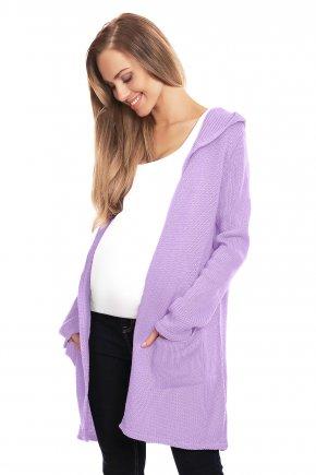 Tehotenský sveter:kardigán s kapucňou