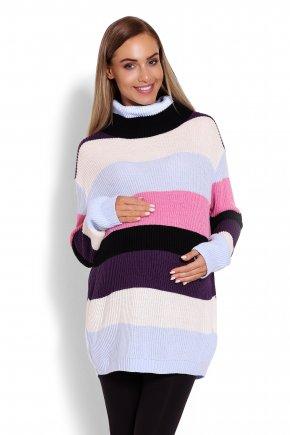Viacfarebný tehotenský sveter multikolor 1