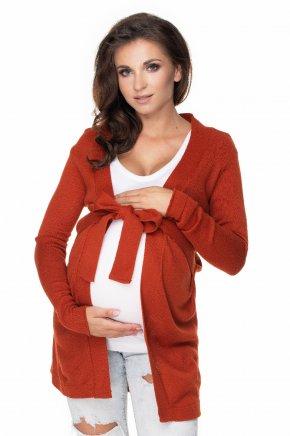 Tehotenský kardigán so zaväzovaním (13)