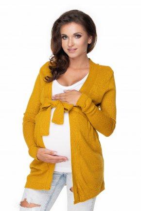 Tehotenský kardigán so zaväzovaním (9)