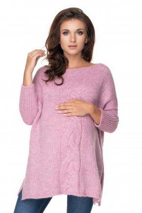 Tehotenský oversize sveter s rozparkami (10)