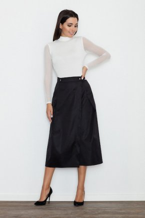 Midi sukňa - čierna