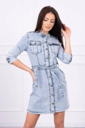 Džínsové šaty so zapínaním na gombíky