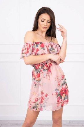 Šaty s kvetinovou potlačou s odhalenými ramenami 8