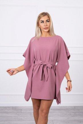 Šaty s netopierými rukávmi tmavo ruzova 16360 3