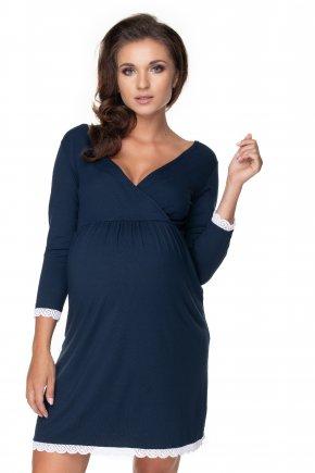 Tehotenská nočná košeľa s krajkou (1)