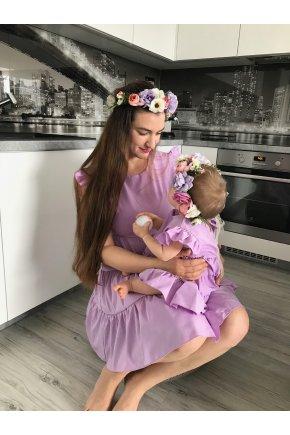 Fialové šaty Violet pre mamu a dcéru