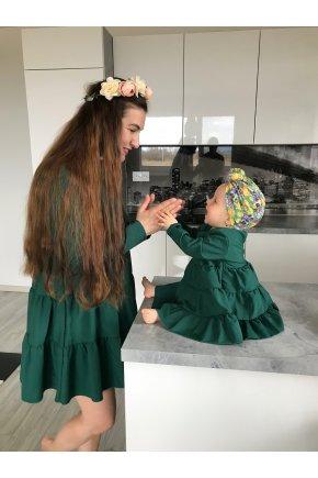 Zelené šaty Sarah pre mamu a dcéru 7