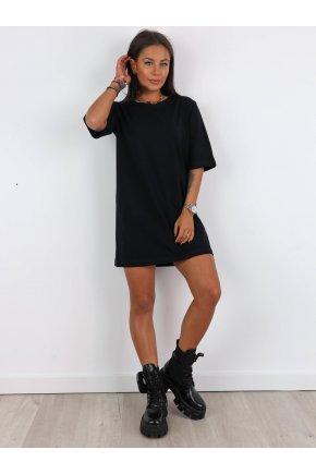 Basic oversize tričkové šaty 7