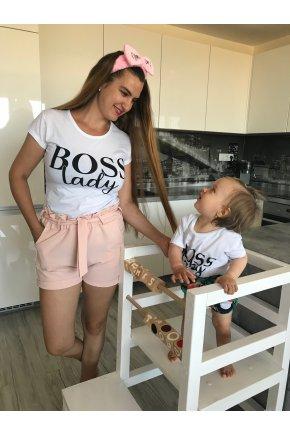 Tričko Boss Lady pre mamu a dieťa 2