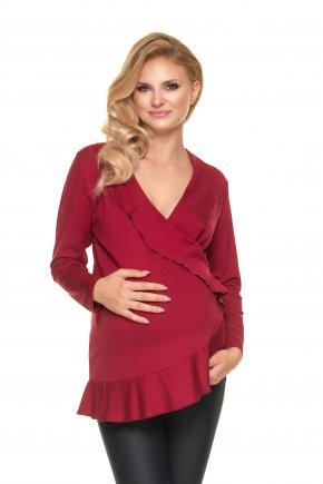 Tehotenská blúzka s volánmi (6)