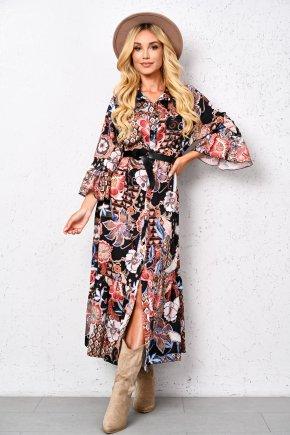 Dlhé šaty so vzorom
