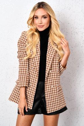 Oversize sako s pepítovým vzorom