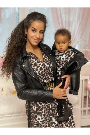 Šaty Leopard pre mamu a dcéru 5